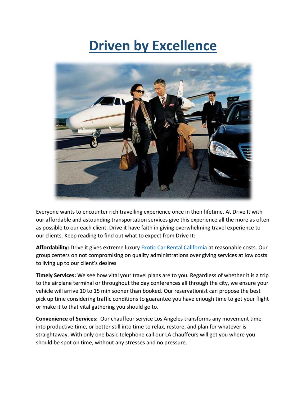 Luxury Car Rental And Chauffeur Services In Los Angeles By Anu