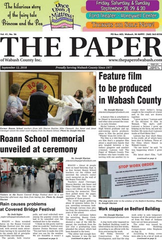 The Paper Of Wabash County Sept 12 2018 Issue By The Paper Of