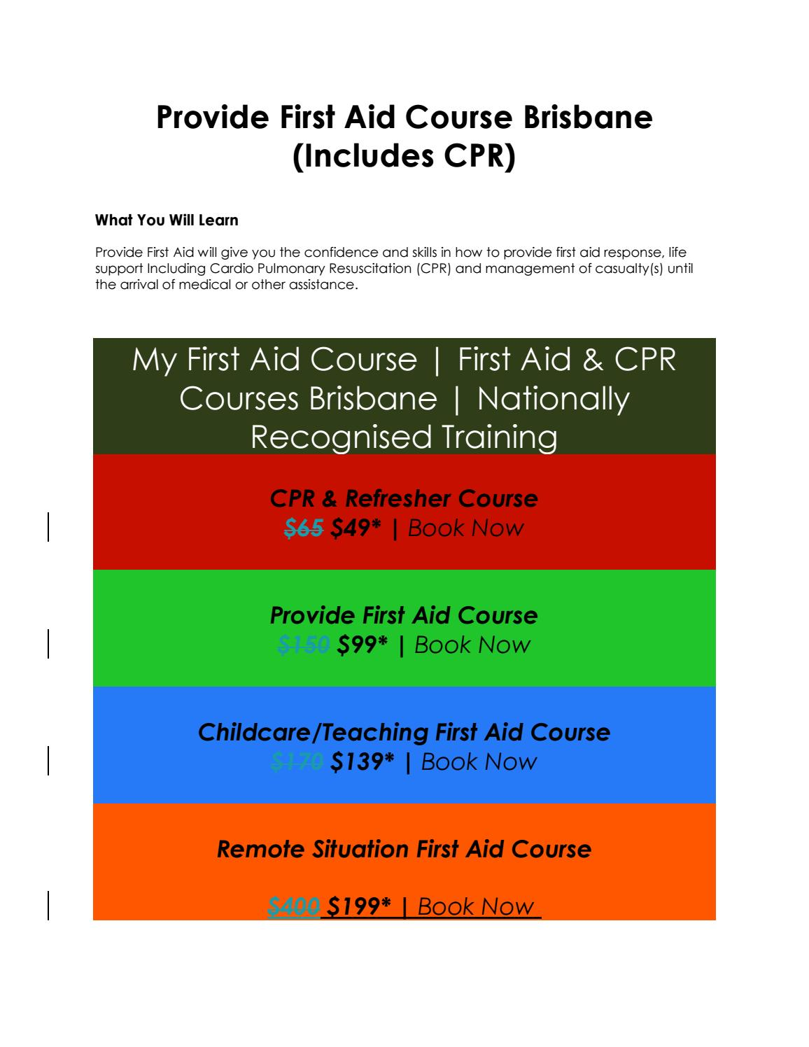 4 Reasons To Train With My First Aid Course By Amy Vincent Issuu