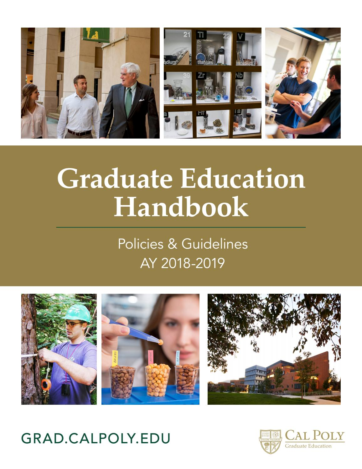 Cal Poly Graduate Education Policies and Guidelines by California ...