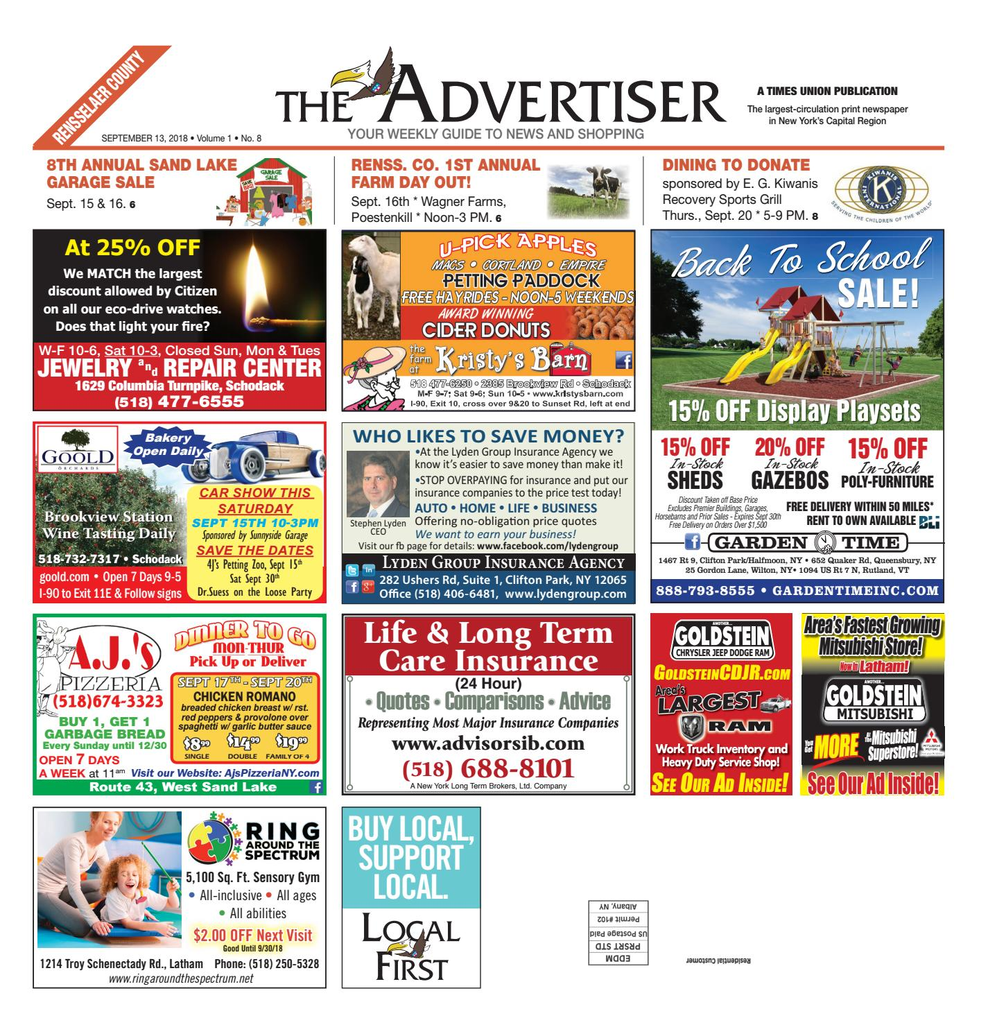 Local First The Advertiser 091318 By Capital Region Weekly