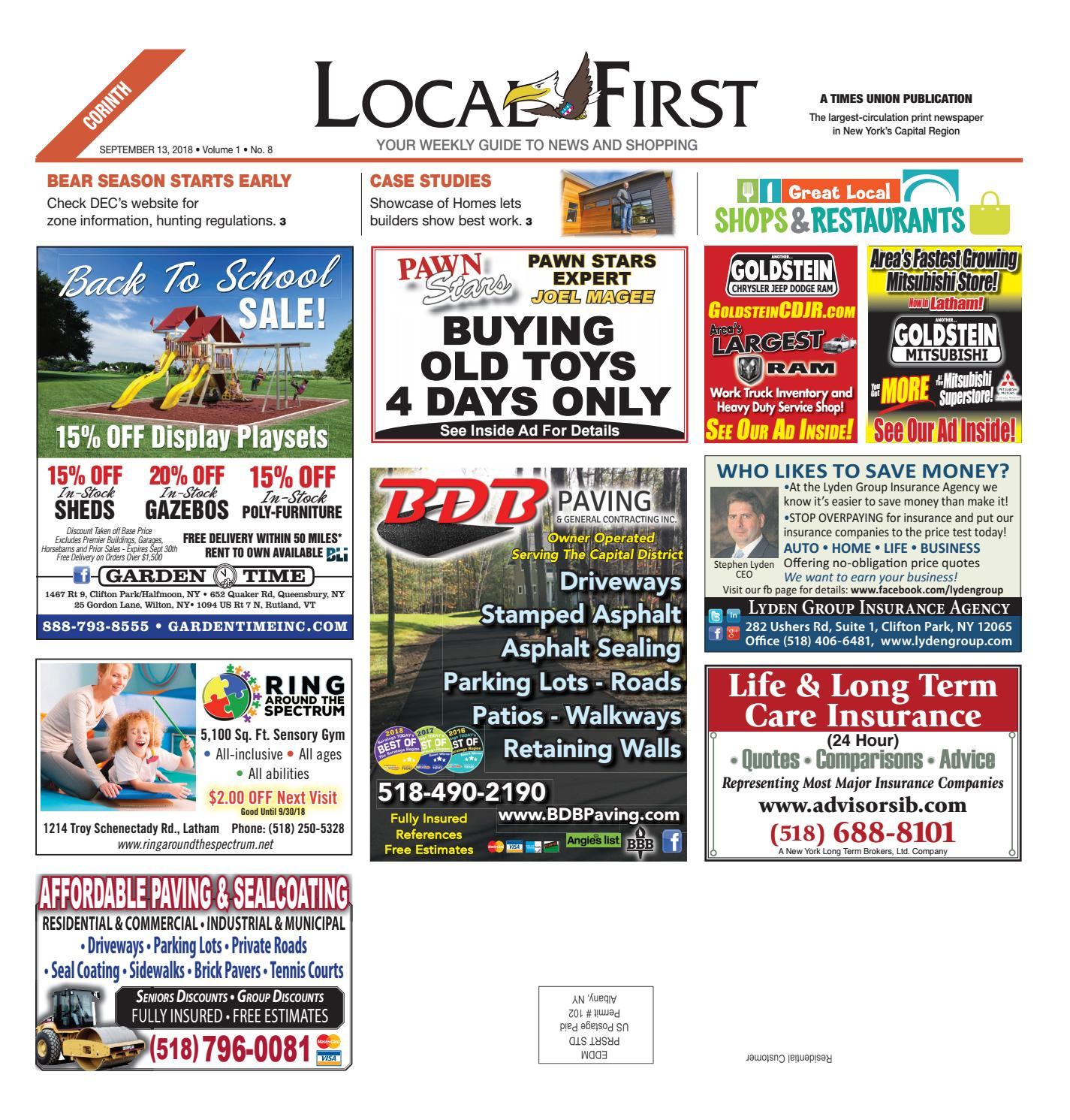 Nemer Chrysler Jeep Dodge Ram Queensbury Ny: Local First Corinth 091318 By Capital Region Weekly
