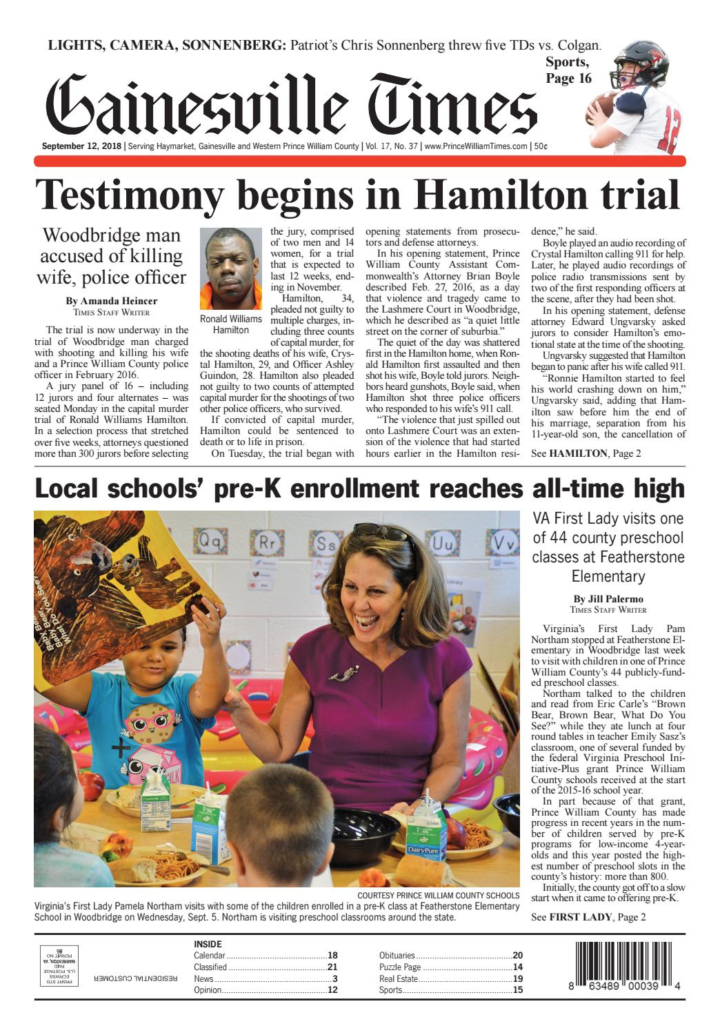 Gainesville Prince William Times September 12 2018 By Fauquier