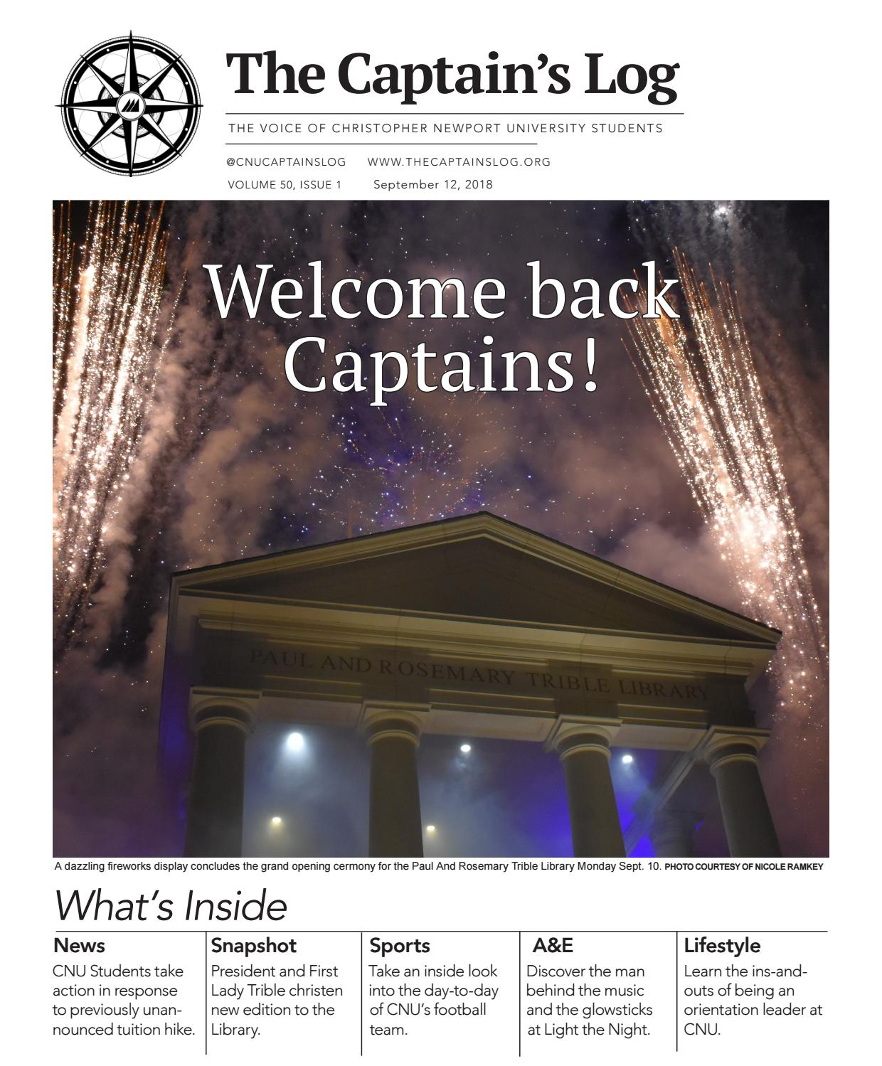 The Captain's Log: Volume 50, Issue 1 by The Captain's Log - issuu