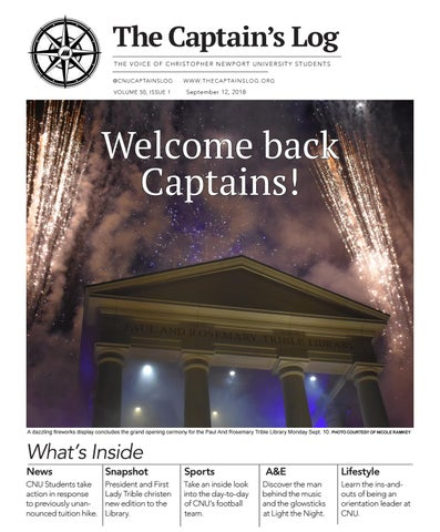 ea321d67d The Captain s Log THE VOICE OF CHRISTOPHER NEWPORT UNIVERSITY STUDENTS   CNUCAPTAINSLOG VOLUME 50