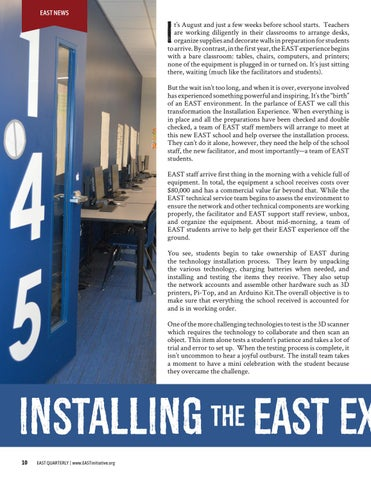 Page 12 of Installing the EAST Experience