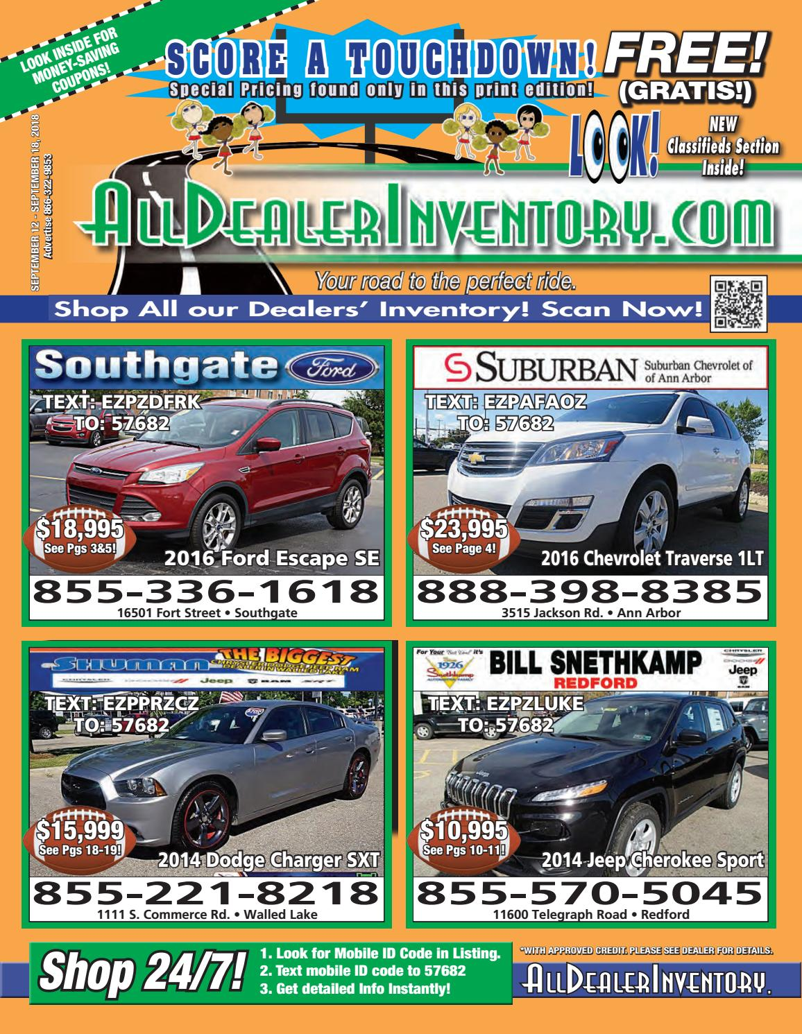 All Dealer Inventory's Score A Touchdown Sales Edition! by