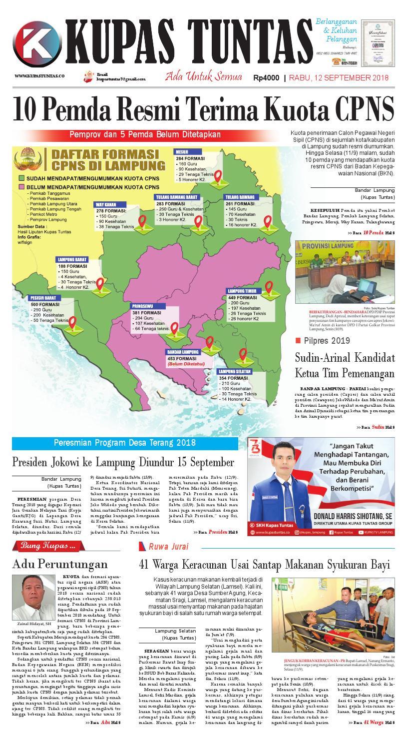 Surat Kabar Harian Kupas Tuntas Edisi Rabu 12 September 2018 By