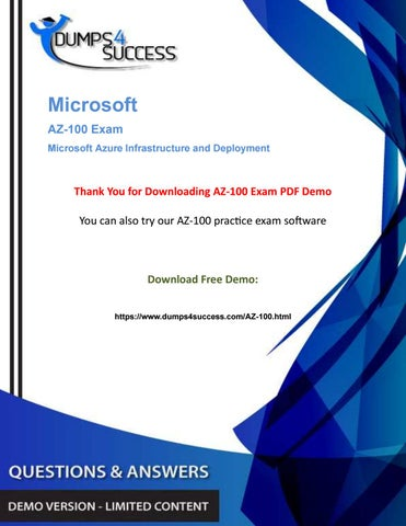 Updated AZ-100 Microsoft Certified Professional Exam