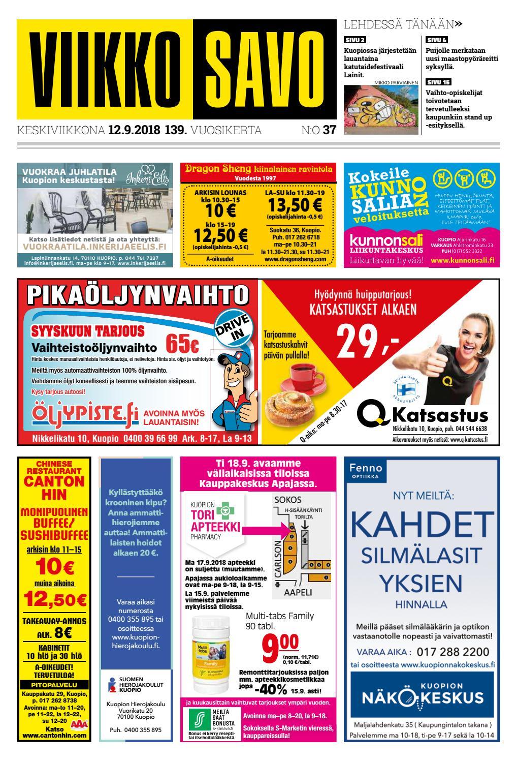 Viikkosavo 12.9.2018 by Viikkosavo - issuu bcd5469dcc