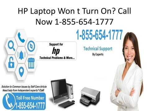 HP Laptop Won t Turn On? Call Now 1-855-654-1777 by