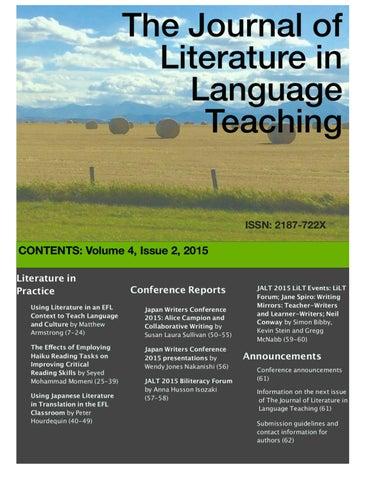 The Journal of Literature in Language Teaching Volume 4