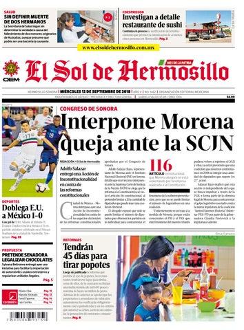 a32628a197a Edición impresa miércoles 12 de septiembre de 2018 by El Sol de ...