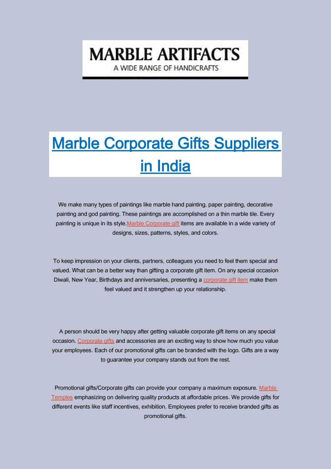 Marble Painting Corporate Gifts in Jaipur | Marbletemples com by