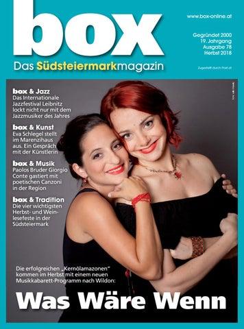 BOX Herbst 2018 By BOX   Das Südsteiermark Magazin   Issuu
