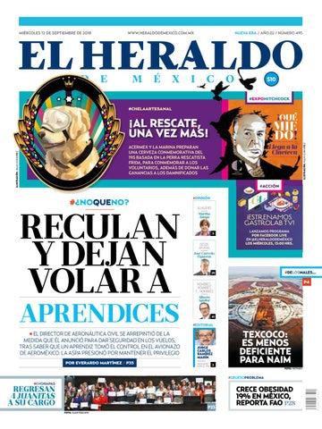 16dbf4db6a 12 de septiembre de 2018 by El Heraldo de México - issuu