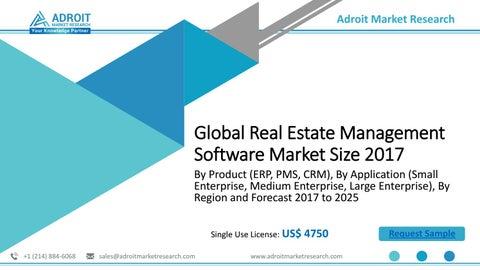 Real Estate Management Software Market 2018 Trends, Market Share