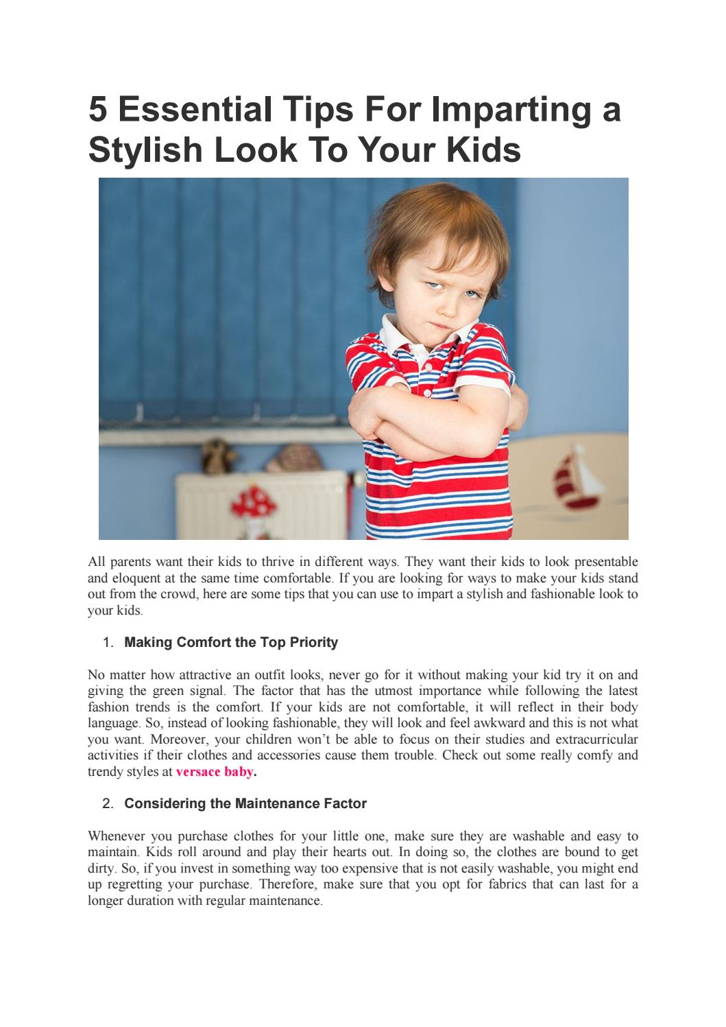 34ba02bea1a 5 Essential Tips For Imparting a Stylish Look To Your Kids - Bambini  Fashion by Bambini Fashion - issuu