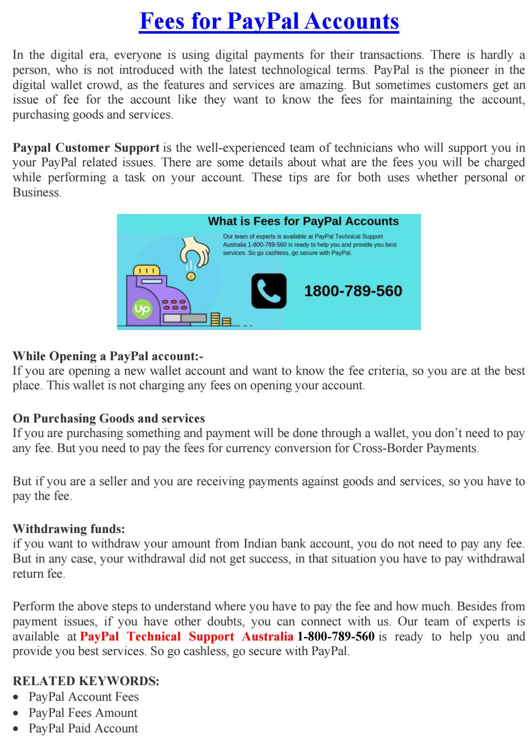 Fees For PayPal by emmacooperd3bk - issuu