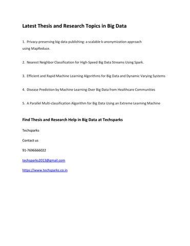 latest thesis topics