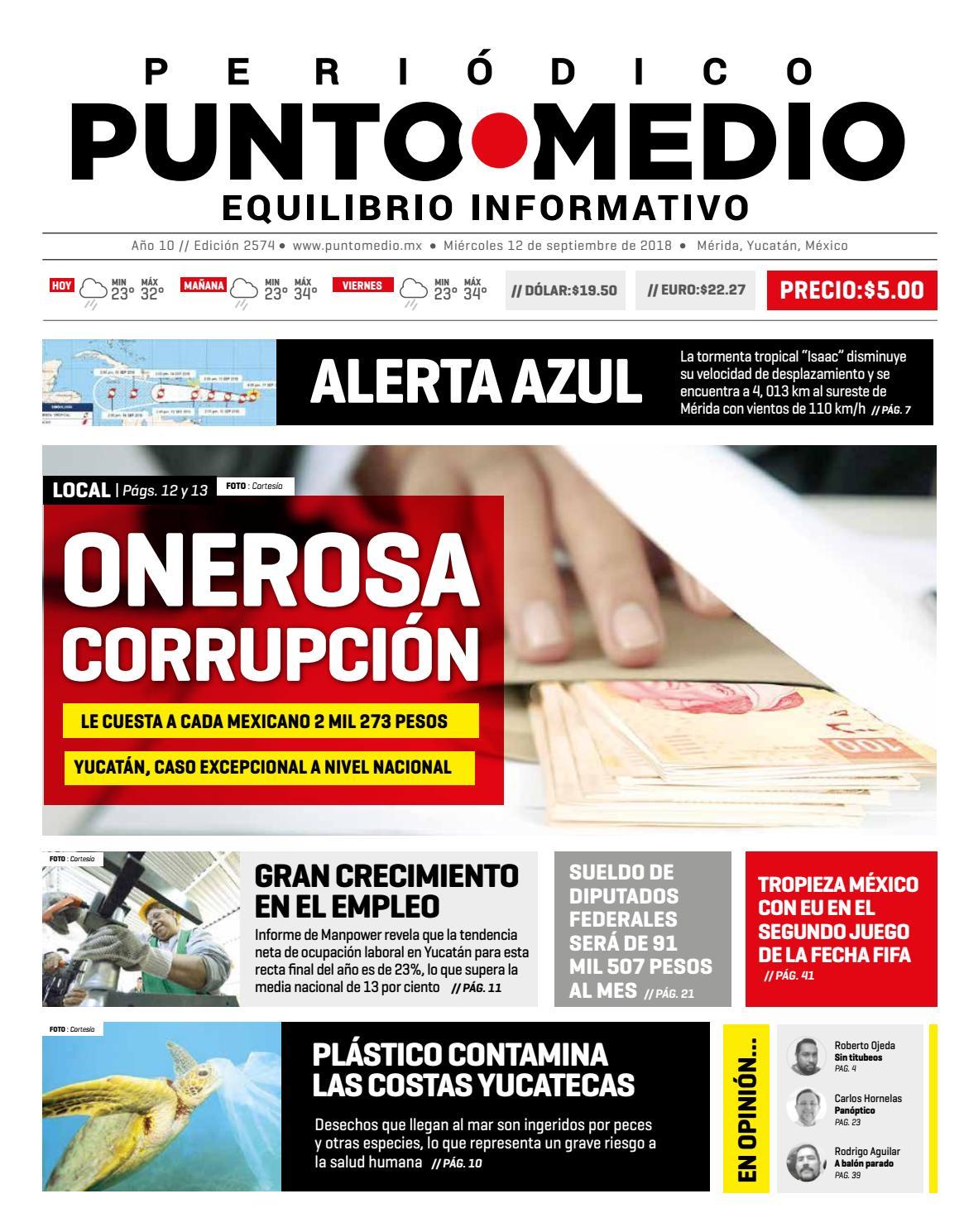Edición impresa del día miércoles 12 de septiembre del 2018 by Punto Medio  - issuu 93facd96f81ed