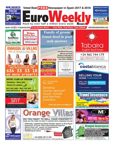 d0398b2b391a Euro Weekly News - Costa Blanca North 13 - 19 September 2018 Issue ...
