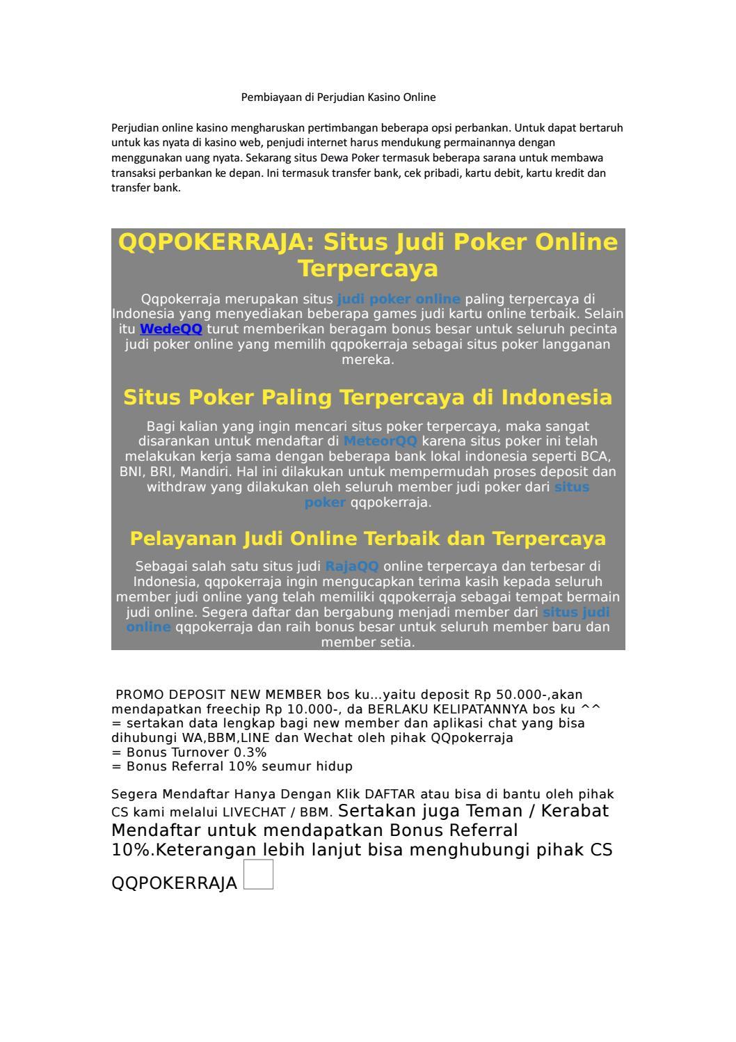 Promo Situs Judi Online Poker Terpercaya By Seliana Lee Issuu