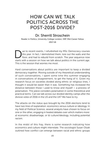 Page 25 of How Can We Talk Politics Across the Post-2016 Divide?