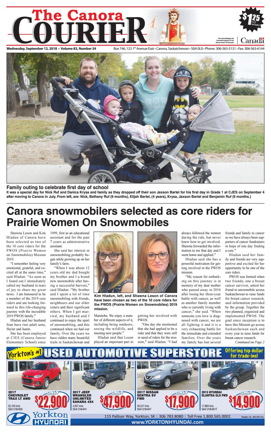 Canora Courier 2018-09-12 by Canora Courier - issuu dc28094793d25