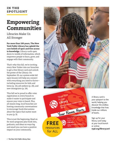 Page 2 of Empowering Communities at The New York Public Library