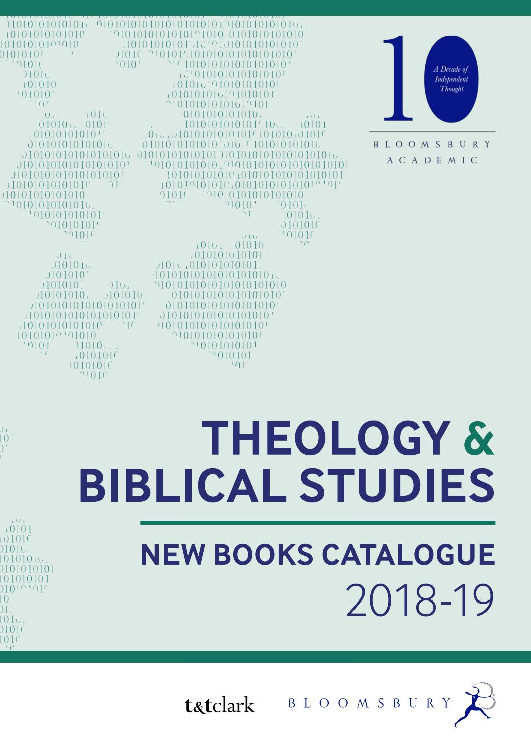 Theology & Biblical Studies Catalogue 2018-19 by Bloomsbury