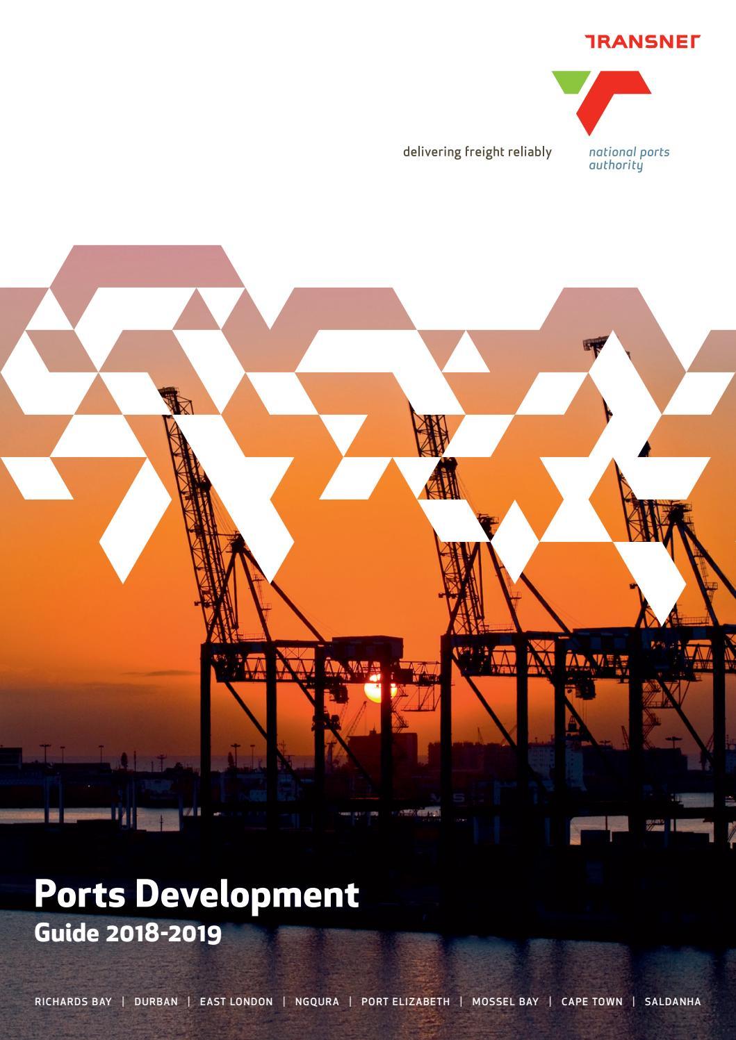 Transnet Ports Development Guide 2018 2019 By Land Marine Publications Ltd Issuu