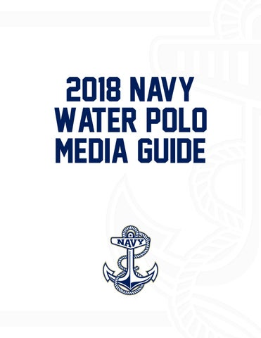 2018 Water Polo Guide
