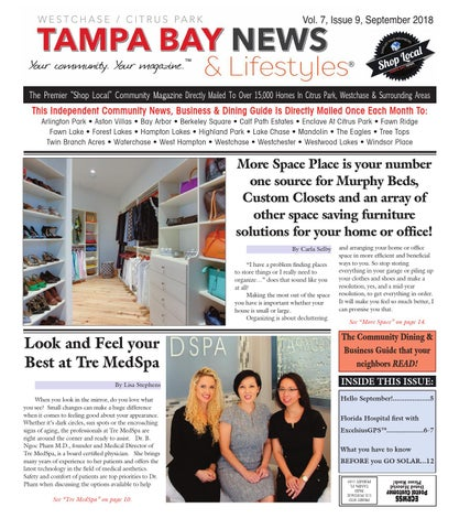 Westchase- Vol  7, September Edition of Tampa Bay News & Lifestyles