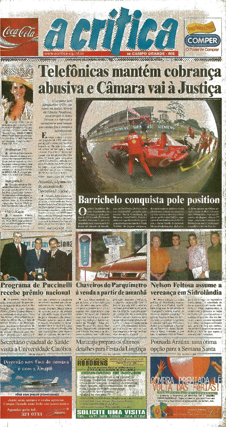 caedd78f33e42 Jornal A Critica - Edição 1123- 06 04 2003 by JORNAL A CRITICA - issuu