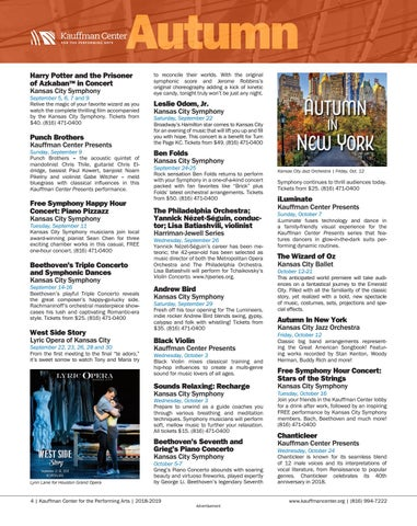 Page 4 of Fall 2018 events at the Kauffman Center