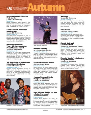 Page 5 of Fall 2018 events at the Kauffman Center