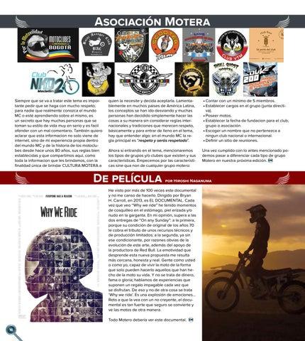 Page 16 of Asociaciones Moteras y Películas recomendadas
