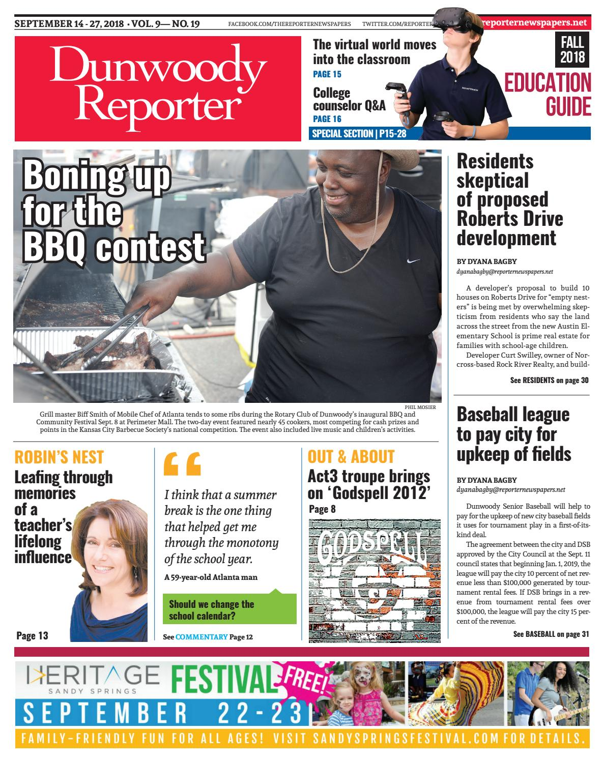 09-14-18 Dunwoody Reporter by Reporter Newspapers - issuu