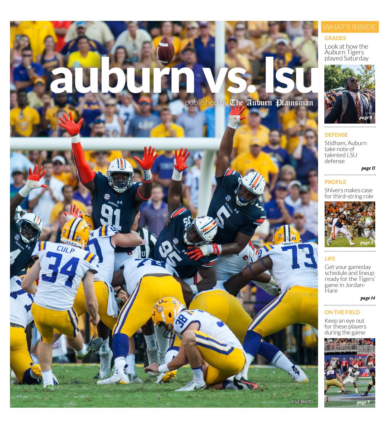 9 13 18 Gameday Issue — Auburn vs  LSU by The Auburn