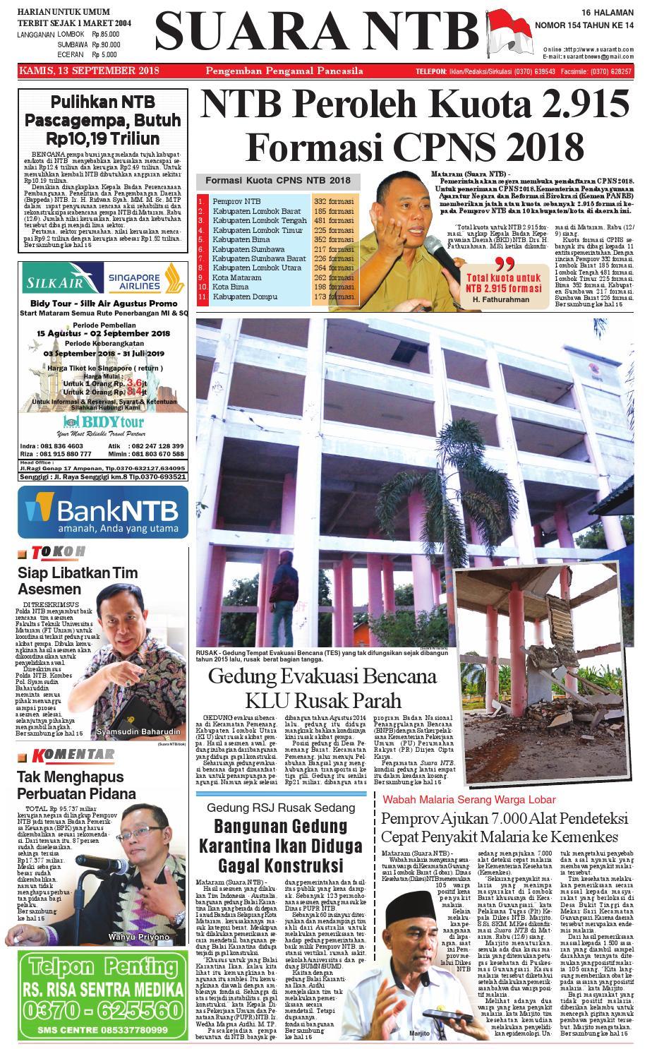 Edisi Kamis 13 September 2018 Suara Ntb By E Paper Kmb Issuu Produk Ukm Bumn Sambal Bawang Goreng Maklin