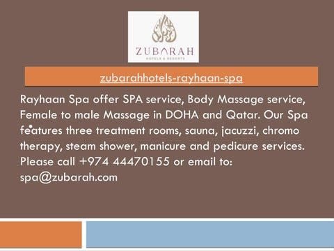 In male to female doha massage by Cheap spa