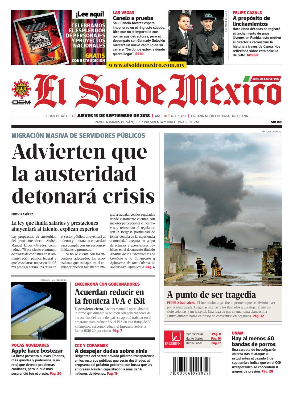 El sol de México 13 de septiembre del 2018 by El Sol de México - issuu 361d871293dfc