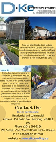 Affordable Roofing Construction Companies By Dk Croofing Issuu