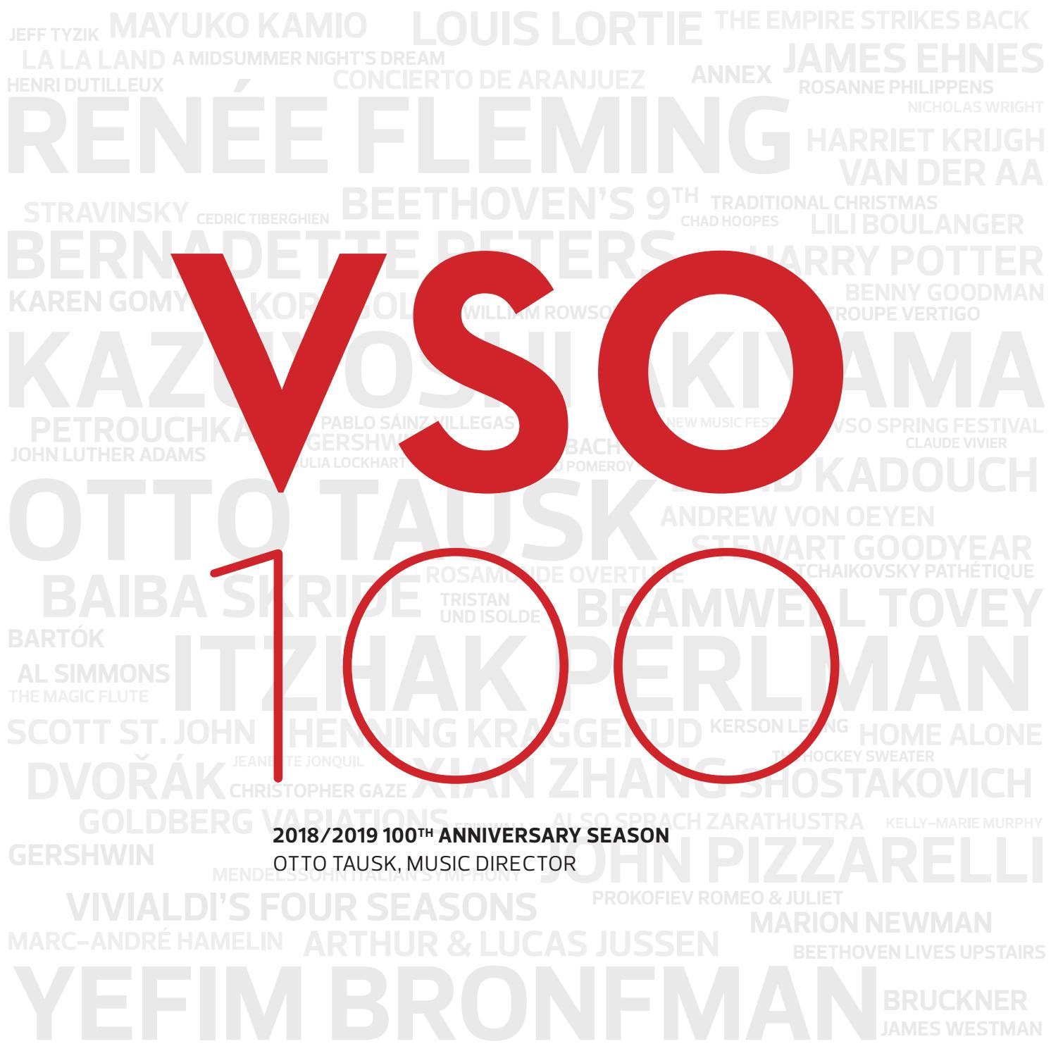 VSO 2018/2019 Season Brochure by Vancouver Symphony - issuu