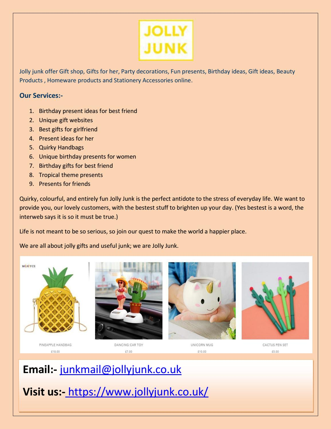 Uk Source Fun Present Ideas For Best Friend The Costumes Birthday