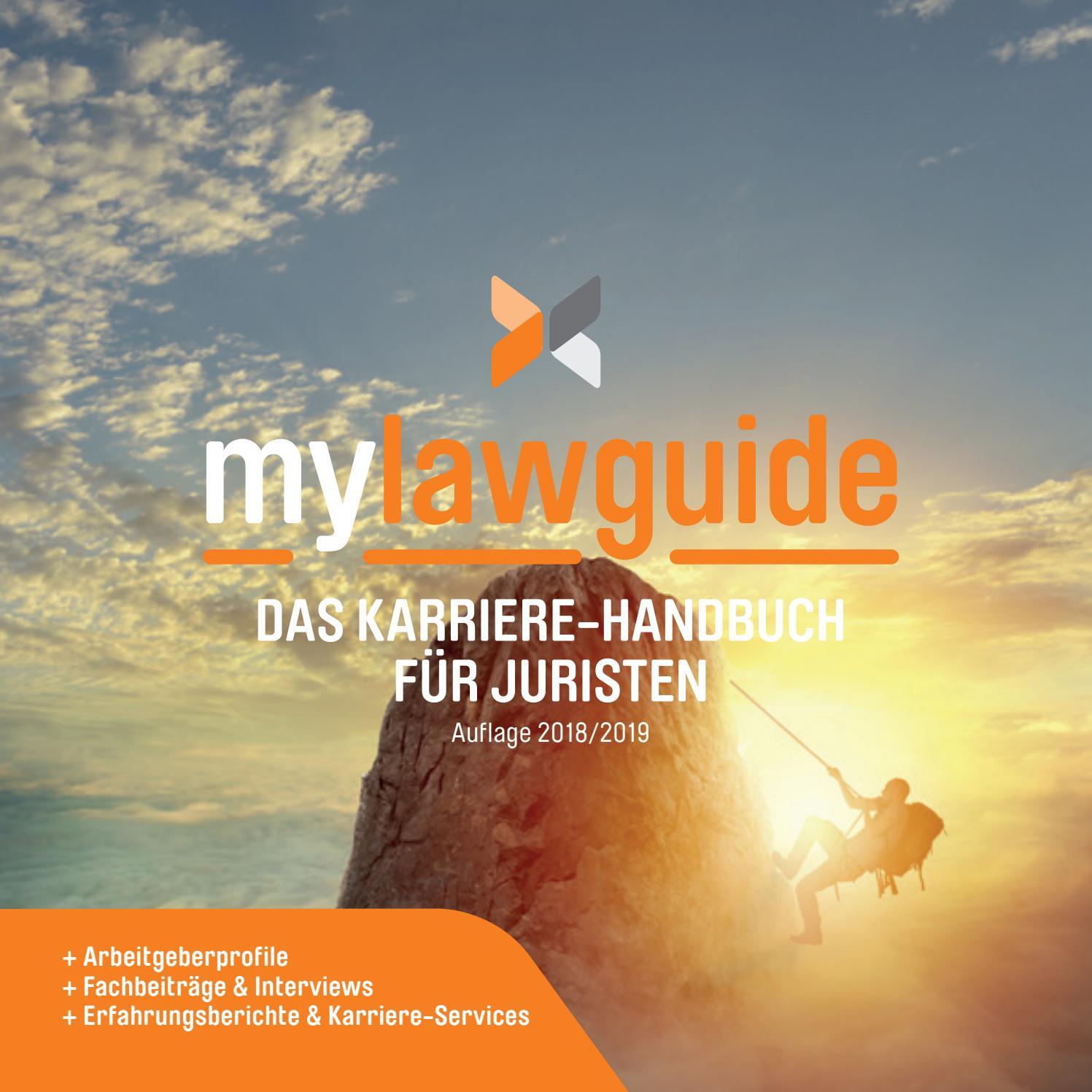 mylawguide - Das Karriere-Handbuch für Juristen by MYJOBFAIR GmbH - issuu