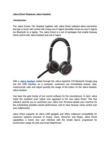 Jabra Direct Replaces Jabra headset  by maryjulie321 - issuu