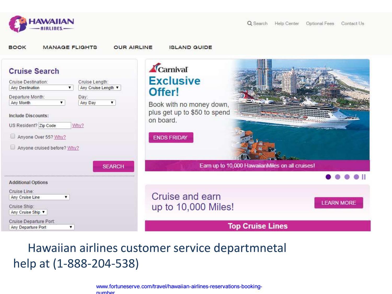 Hawaiian airline reservation 18882045328 flight booking ...