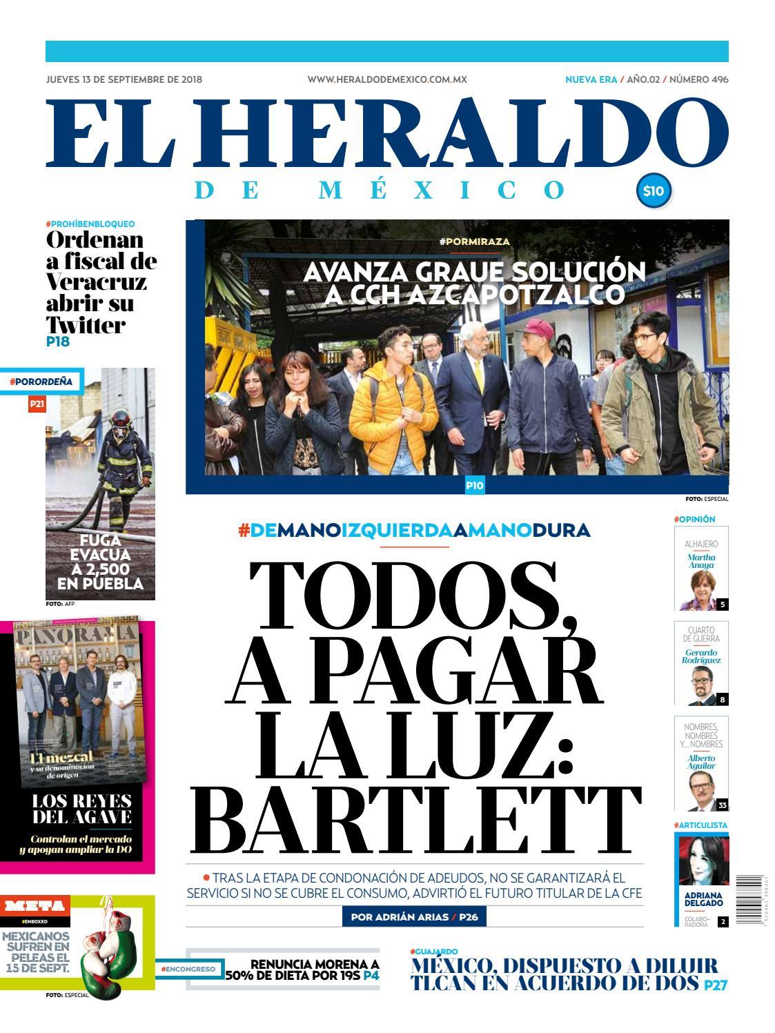 13 de septiembre de 2018 by El Heraldo de México - issuu 7c91f4093e9